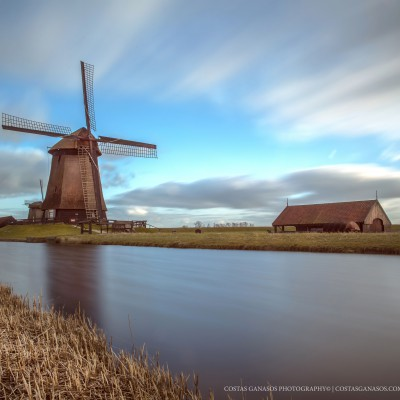 Old windmills in the Netherlands